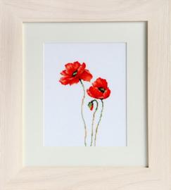 Borduurpakket Poppies - Luca-S    ls-b2225