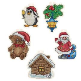 Borduurpakket Christmas Tree Decorations - PANNA    pan-7109-ig