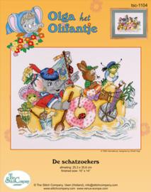 Borduurpakket De Schatzoekers - The Stitch Company    tsck-1104e