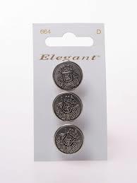 Knopen Elegant - Zilver / 664