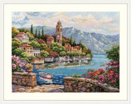 Borduurpakket Lago di Como - Merejka    mer-k175
