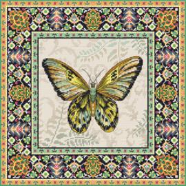 Borduurpakket Vintage Butterfly - Leti Stitch    leti-0981