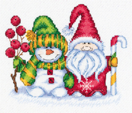 Borduurpakket Winter Greetings - PANNA    pan-08-0415