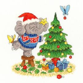 Borduurpakket Simon Taylor-Kielty - A Merry Elly Christmas - Bothy Threads    bt-xel08