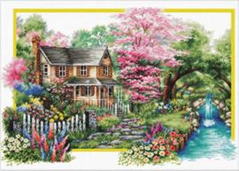 Voorbedrukt borduurpakket Spring Comes - Needleart World    nw-nc740-058