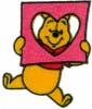 HKM Mode Applic. Winnie the Pooh met een hart