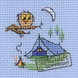 Borduurpakket Camping - Mouseloft    ml-004-g02