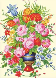 Voorbedrukt borduurpakket Elegant Floral Arrangement - Needleart World    nw-nc640-056
