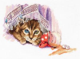 Borduurpakket Naughty Cat - PANNA    pan-7120-j