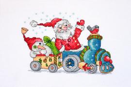 Borduurpakket Christmas Travel - Merejka    mer-k116