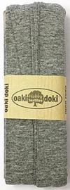 Oaki Doki Tricot de Luxe  / Jersey Biaisband / Grijs Gemeleerd 067