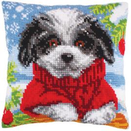 Kussen borduurpakket Woolly Winter - Collection d'Art    cda-5249