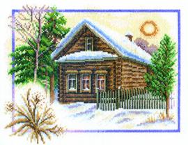 Borduurpakket Winter House - PANNA    pan-0333-ps