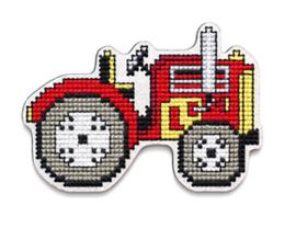 Borduurpakket Houten geperforeerde vorm - Tractor - RTO    rto-ehw043
