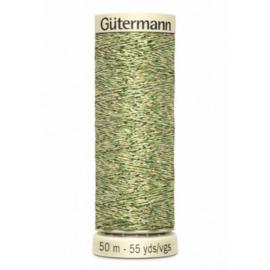 Gutermann metallic garen kleur mosgroen nr: 400