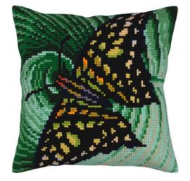 Kussen borduurpakket Butterfly - Collection d'Art    cda-5308