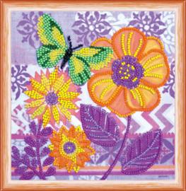 Kralen borduurpakket Amazing Flowers - Abris Art    aa-am-156