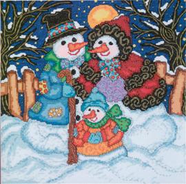 Borduurpakket Snow Family - Janlynn    jan-023-0214