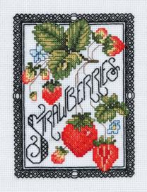 Borduurpakket Blackwork Berries - Janlynn    jan-023-0607