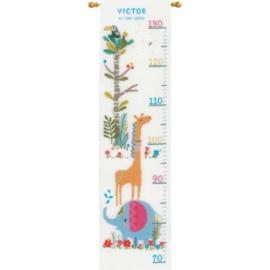 Borduurpakket groeimeter junglediertjes Vervaco PN-0179362