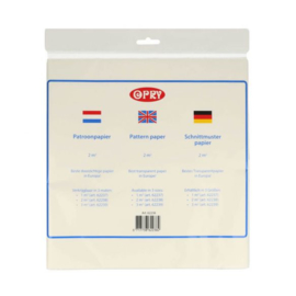 OPRY Patroonpapier / 2M2 / Transparant