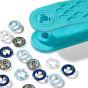 Prym Love babydrukkers / drukknopen / 3 blauw tinten/ 390 702