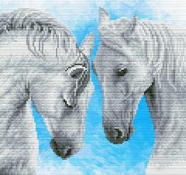 Voorbedrukt borduurpakket Horse prayer - Needleart World    nw-nc450-042