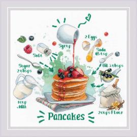 Borduurpakket Recipe - Pancakes - RIOLIS    ri-1919