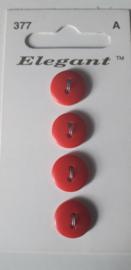 Knopen Elegant rood (377)