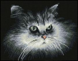 Diamond Dotz Shadow Cat - Needleart World  nw-dq07-002