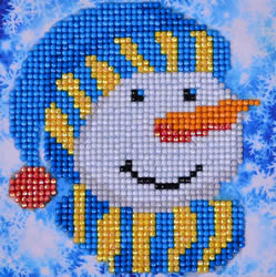 Diamond Dotz Snowman Cap Picture - Needleart World    nw-dd02-034