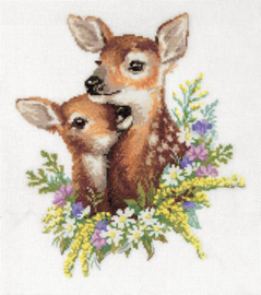 Borduurpakket Fawns - PANNA    pan-7127-j