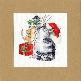 Borduurpakket Margaret Sherry - Under The Mistletoe - Bothy Threads    bt-xmas26