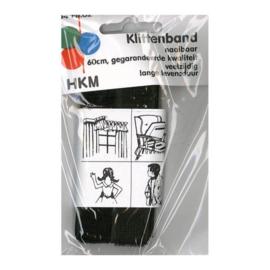 Klittenband naaibaar 60 cm / zwart