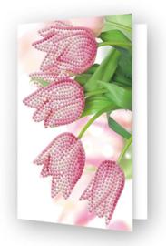 Diamond Dotz Greeting Card Romantic Tulips - Needleart World  nw-ddg-036
