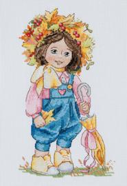 Borduurpakket Autumn Girl - Merejka    mer-k100
