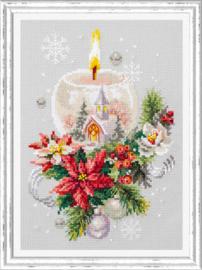 Borduurpakket Christmas Candle - Chudo Igla    ci-100-231
