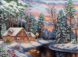 Borduurpakket Winter Landscape - PANNA    pan-1755-ps