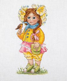 Borduurpakket Spring Girl - Merejka    mer-k098