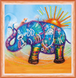 Kralen borduurpakket Neon Elephant - Abris Art    aa-am-149