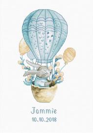 Borduurpakket Rabbit in a Flying Balloon - Luca-S    ls-b1150
