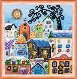 Kralen borduurpakket Bright Houses - Abris Art    aa-am-146