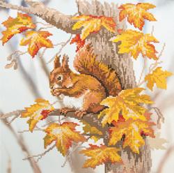Diamond Painting Squirrel on a Branch - Freyja Crystal    fc-alvr-013-112