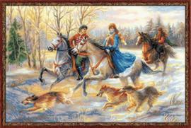 Borduurpakket Russian Hunting - RIOLIS    ri-1639