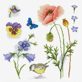 Voorbedrukt borduurpakket Garden Sampler 2 - Needleart World    nw-nc540-046