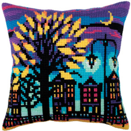 Kussen borduurpakket Twilight - Collection d'Art    cda-5285