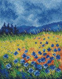 Borduurpakket Skyblue Cornflowers - RTO    rto-m00625