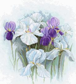 Borduurpakket Irises - Luca-S    ls-b2367