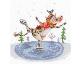 Borduurpakket Graceful Skating - RTO    rto-m00835