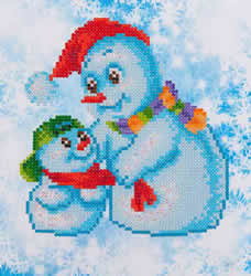 Diamond Dotz Snow Family - Needleart World    nw-dd03-014